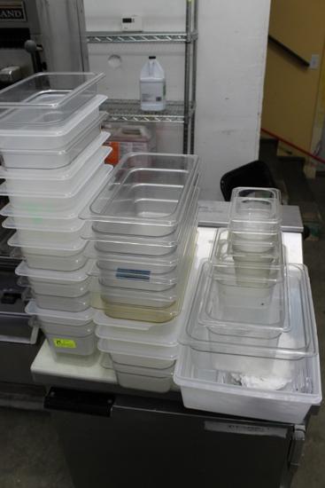 (30) Cambro Plastic Insets