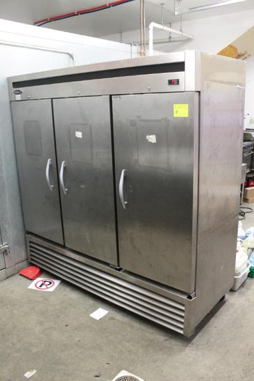 Kool-It Three Door Stainless Steel Reach-in Refrigerator