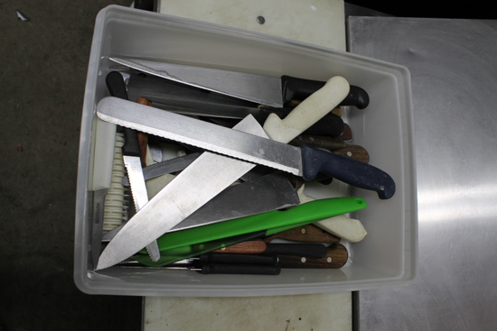 (31+/-) Assorted Kitchen Knives