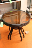 (2) Glass-Top Tables