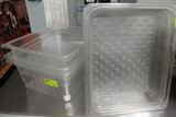(5) Perforated Cambro Insets