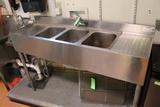 Krowne SS 3-Bay Sink