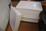 (6) Assorted Cambro Poly Bins
