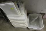 Assorted Fish Tubs & Cambro Bins