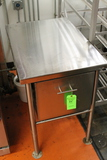 Stainless Steel Work Station w/ (1) Drawer