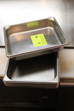 (4) Stainless Steel Half Pans