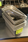 (6) Stainless Steel 1/3 Pan Insets