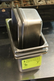 (5) Stainless Steel 1/4 Pan Insets