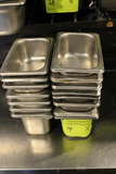 (15) Assorted Stainless Steel Pan Insets