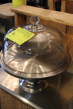 Stainless Steel Cake Stand with Glass Cover