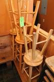 (7) Wooden Stools