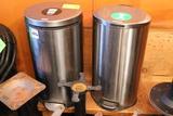 (2) Stainless Steel Wastebaskets