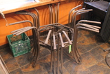 (4) Hexagon Outdoor Dining Tables