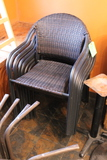 (11) Faux Wicker Patio Chairs