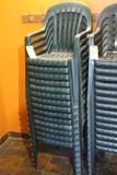 (14) Plastic Patio Chairs