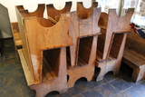 (6) Oak & Plywood Benches