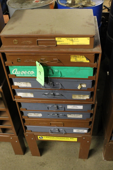 (2) Lawson Parts Cabinets w/ Stand