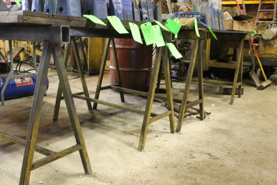 (4 ) Steel Saw Horses