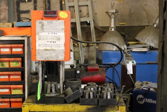 Gates PC707  Hydraulic Press Coupling Machine w/ Dies
