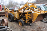 International Rubber Tire Backhoe