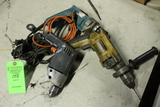 (3) Corded Power Drills