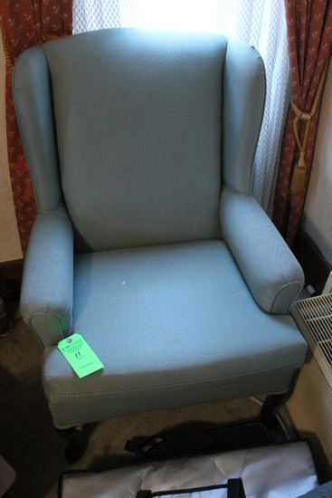 Queen Anne Upholstered Armchair