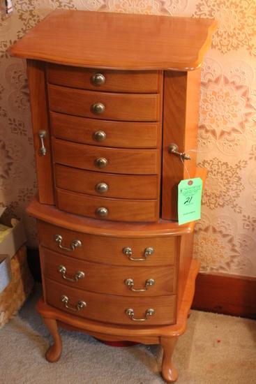 (10) Drawer Jewelry Cabinet