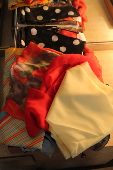 (25) Silk & Polyester Scarves