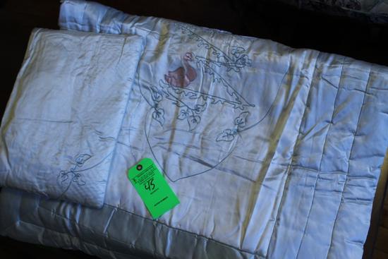 Infants Crib Blanket & Pillow
