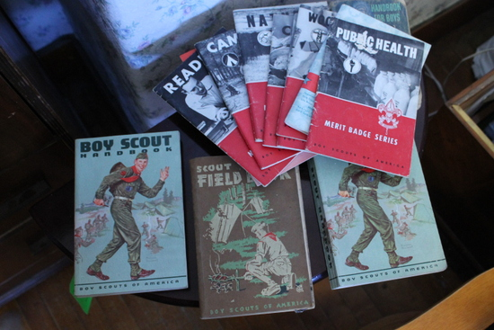 (13) Boy Scout Hand, Field & Merit Badge Series Books