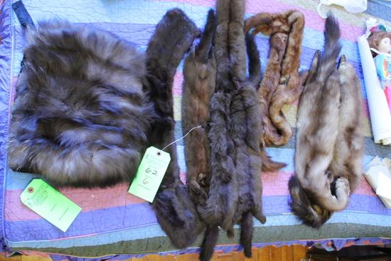 (6) Mink. Weasel & Other Fur Shawls