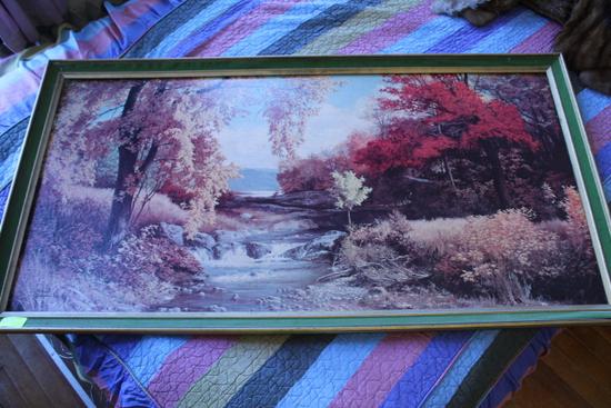 Fall Scene on Cardboard by Robert Doares