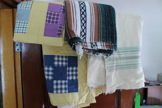 (3) Quilts & Old Wool Blanket