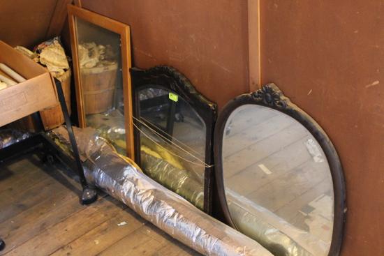 (3) Framed Mirrors