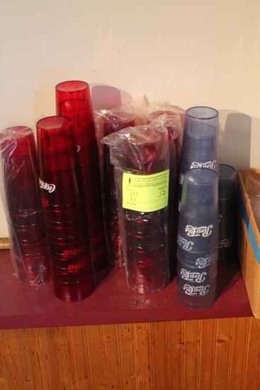(52) Coke a Cola & Pepsi Cola Plastic Cups