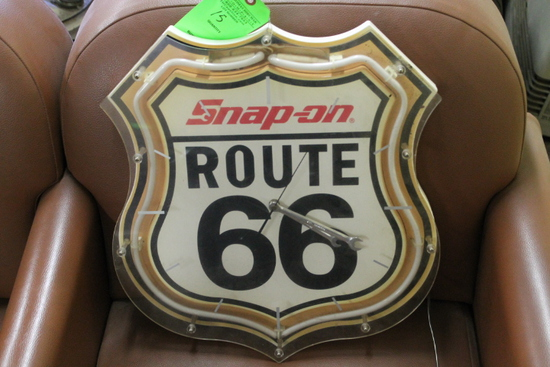 Neon Snap-On Route 66 Sign