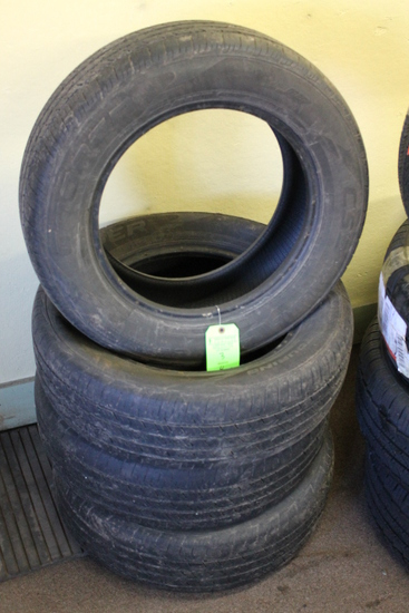(4) Used Cooper Tires