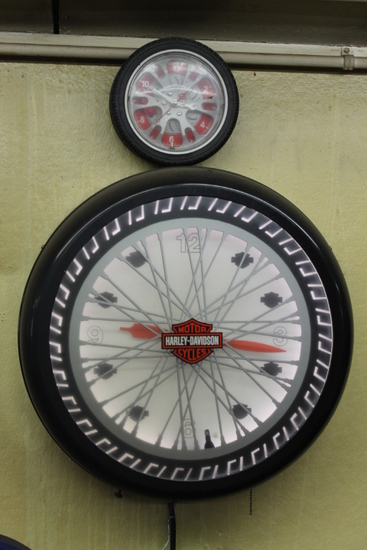 Harley Davidson Revolving Advertising Clock
