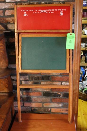 Vintage Children's Folding Chalk Board