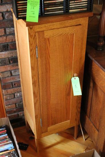 Single-Door Contemporary Oak Cabinet
