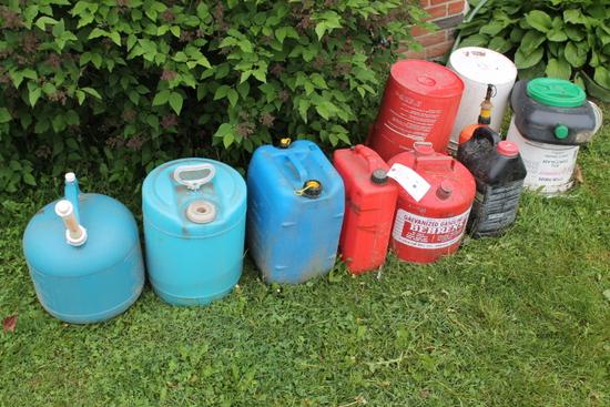 (8) Asst. Gas Cans