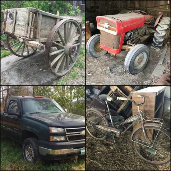 Farm Equipment, Antiques & Collectibles