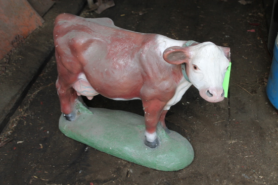 Cement Cow Statue