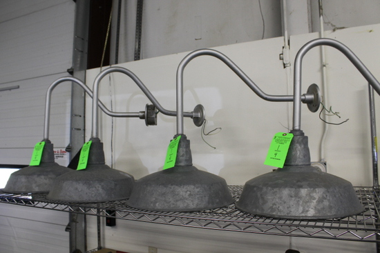 (4) Abolite Wall Mounted Galvanized Barn Lights