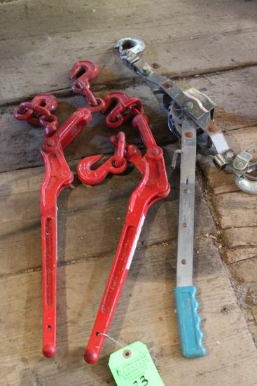 (2) Chain Binders & Power Pull