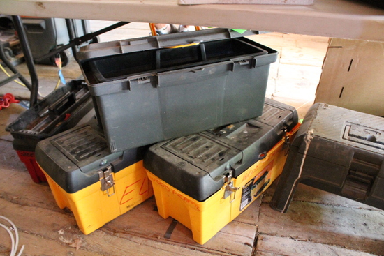 (5) Poly Tool Boxes