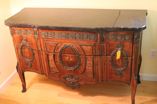 Antique inlaid Continental Marble Top Server