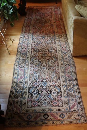 Vintage Oriental Wool Runner