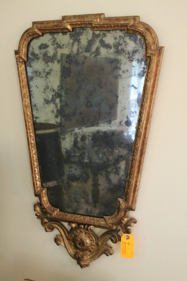 Pair of Antique Gilt Frame Continental Mirrors