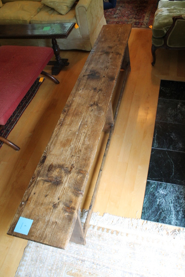 Contemporary Pine Farmhouse Bench